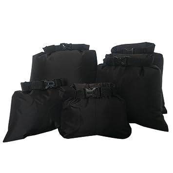 Storage Bags for Kayaking Boating Swimming Camping Outdoor Sports,Black Wongfon 5pcs 1.5L+2.5L+3.5+4.5L+6L Waterproof Dry Bag