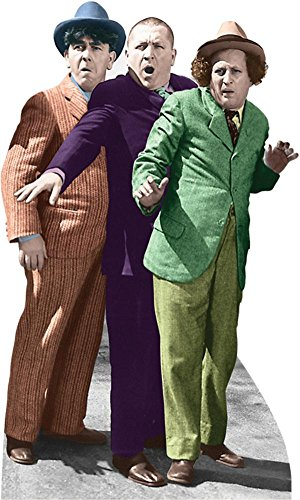 The Three Stooges - Hitchhiking Lifesize Standup Cardboard Cutouts 67 x 40in