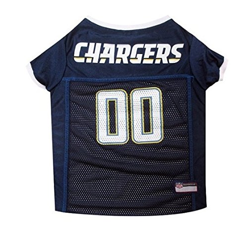 San Diego Chargers Dog Jersey-White Trim - White Dog Jersey