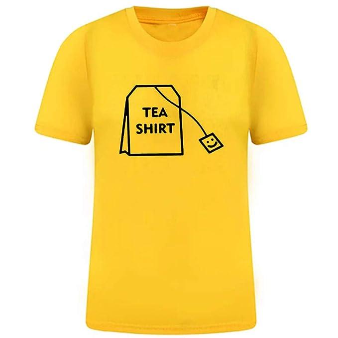 FRAUIT Camiseta Divertida de Mujer Hawai Camisas de Algodón de ...