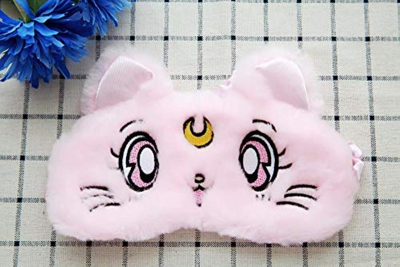 合唱団認証版NOTE 目ケアツール1ピースかわいい猫暖かい柔らかい豪華なアイシェード睡眠マスクブラックマスク包帯用目に睡眠