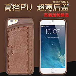 Black Friday Deal Covers & Bags Practical Card Insert Back Case For iphone 6 4.7'' Luxury Retro Leather Slim Cover For iphone 6 --- Color:brown