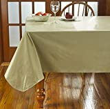 HomeCrate Cafe Deauville Vinyl Tablecloth With Soft Flannel Backing, 60'' X 120'' - Sand