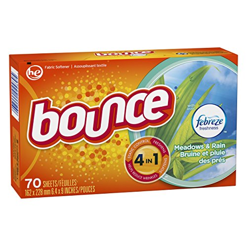 Bounce with Febreze Meadows & Rain Dryer Sheets, 70 Count, (Pack of 3) by Bounce (Image #2)
