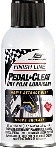 Action Pedal Cleat (Finish Line Pedal and Cleat Dry Film Lubricant Aerosol, 5-Ounce)