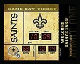 Team Sports America New Orleans Saints Bluetooth Scoreboard Wall Clock