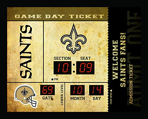 Team Sports America New Orleans Saints Bluetooth Scoreboard Wall - Clock New Orleans Desk Saints