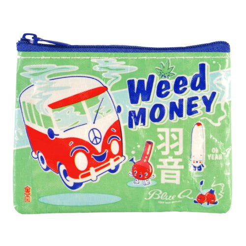 Blue Weed Money Coin Purse product image
