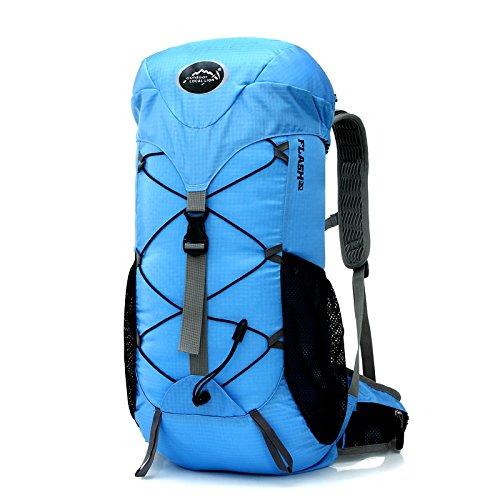 Ruanlei @Vintage CanvasRucksack/Outdoor Laptop-Rucksack/ReisenWandern/Rucksack mit großer KapazitätOutdoor Freizeit Reisen Doppelzimmer Schultertasche, Blau Light blue