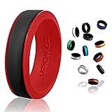 UROKAZ   Silicone Wedding RingBlack   RedSize 4  Inner Diameter ~ 14.88 mm