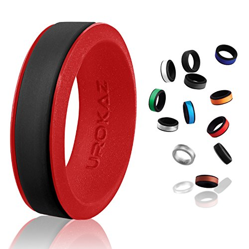 UROKAZ Gold Silicone Wedding Ring Mens Size 15 9.5 Band Work Rings 11 Teal 14.5 Sets Custom 10 Carbon Fiber Thin Light Comfort 7.5 Bundle neon camo Rubber Alternative Safety no Scratch silcone qalo]()