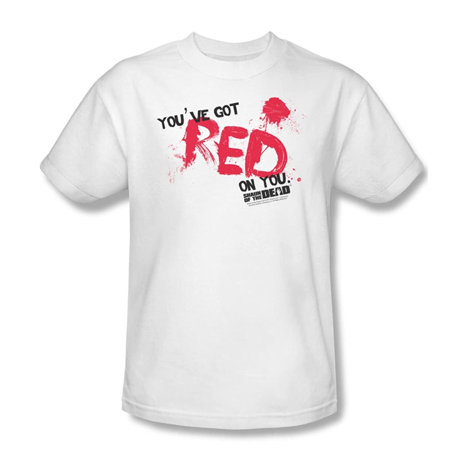 Shaun Of The Dead - Mens Red On You T-Shirt In White