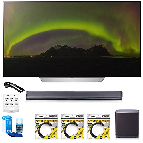 LG-55-C7P-OLED-4K-HDR-Smart-TV-OLED55C7P-with-LG-SJ9-Hi-Resolution-Sound-Bar-3x-6ft-HDMI-Cable-Universal-Screen-Cleaner-for-LED-TVs-6-Outlet-Wall-Tap-w-2-USB-Ports-6ft-Optical-Audio-Cable