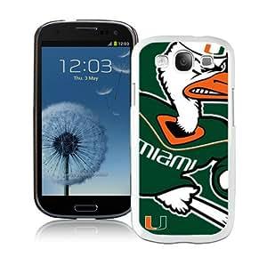 Hot Sale Samsung Galaxy S3 I9300 Screen Case ,NCAA Atlantic Coast Conference ACC Footballl Miami (FL) Hurricanes 3 White Samsung Galaxy S3 Cover Unique And Popular Designed Phone Case