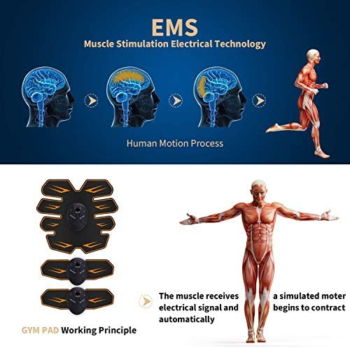 Abs Stimulator Workout Equipment for Home Workouts, Muscle Toner - Abs Stimulating Belt- Abdominal Toner- Training Device for Muscles- Wireless Portable to-Go Gym Device- Fitness Equipment, Black 5