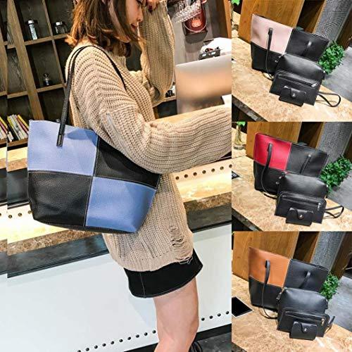 Card Pattern Sale Sunday77 Blue Women Package Handbag Leather Crossbody Bag Messenger 4Pcs Bag B Clearance 1IIqxPf