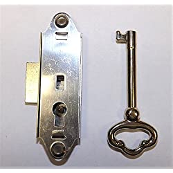 GRANDFATHER CLOCK DOOR LOCK & KEY SET NARROW NEW RIDGEWAY HOWARD MILLER SLIGH