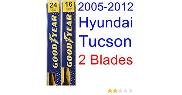 Amazon.com: 2005-2012 Hyundai Tucson Replacement Wiper Blade Set/Kit (Set of 2 Blades) (Goodyear Wiper Blades-Premium) (2006,2007,2008,2009,2010,2011): ...
