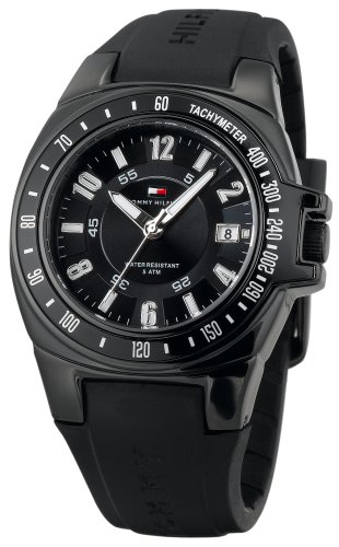 Tommy Hilfiger Men's 1790574 Black Rubber Watch