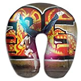 Owen Pullman Travel Pillow Hip Hop Dance Memory Foam Neck Pillow Comfortable U Shaped Neck Support Plane Pillow