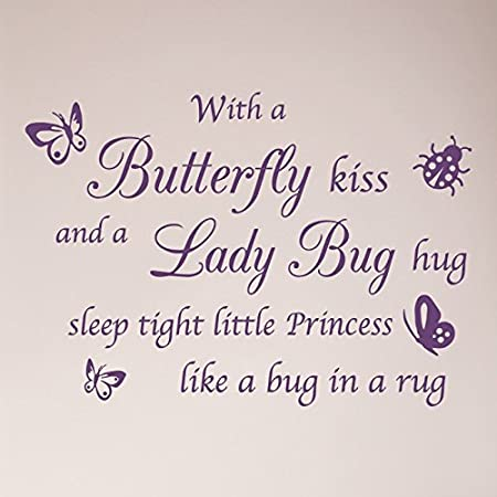 Butterfly Kiss/Lady Bug Hug Wall Decal