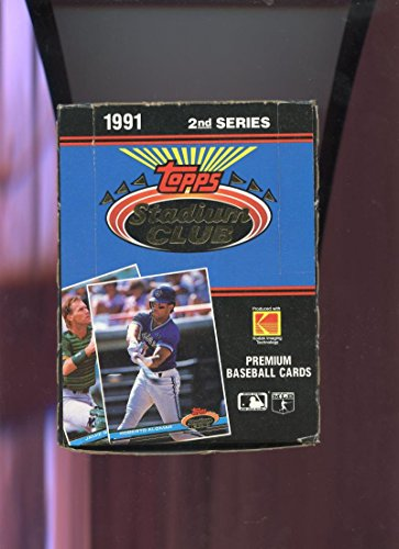 1991 Topps Stadium Club Baseball Wax Pack Box Series 2 Two Set