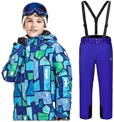 Traje de nieve para niños Juego de ropa de esquí para niños ...