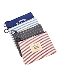 Women's Canvas Change Cash Bag Small Purse Wallets Pack of 4