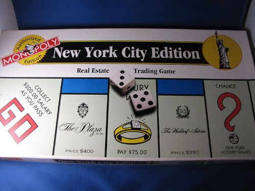 Monopoly New York Edition (1996 New York City Monopoly Game (Authorized Edition) by USAopoly)