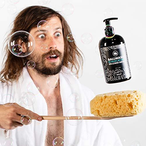 Ball Wash Charcoal Body Wash for Men – Ballsy XL Pump, Shower Gel Ball Wash for Men – 16oz Moisturizing Men's Bodywash…