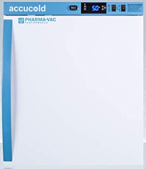 Summit Appliance ARS1PV Pharma-Vac Performance Series 1 Cu.Ft. Compact All-refrigerator for Vaccine Storage with Auto Defrost, Factory-installed Lock, Digital Thermostat, White