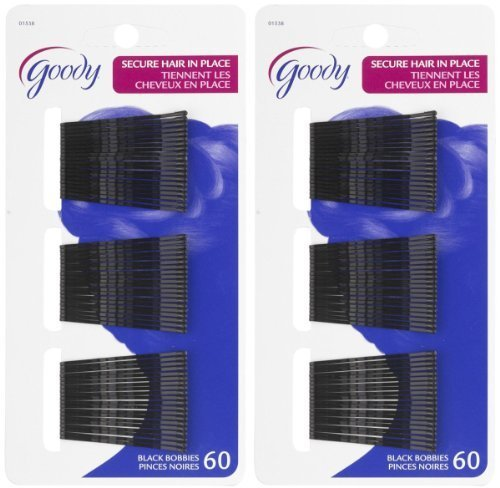 "Goody 2"" Bobby Pins Black 4 Packs of 60 Count"