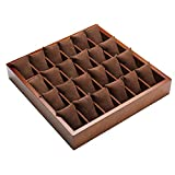 TGDY Watch Jewelry Bracelet Display Collection Storage Box Case Wood Retro 24 Large Capacity Brown