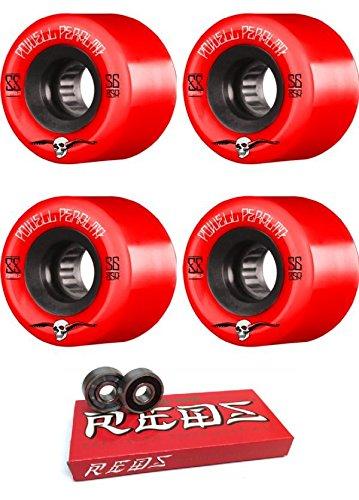 木信頼できるデクリメント56 mm Powell Peralta g-slides Wheels with Bones Bearings – 8 mm Bones Super Redsスケート定格ベアリング – 2アイテムのバンドル