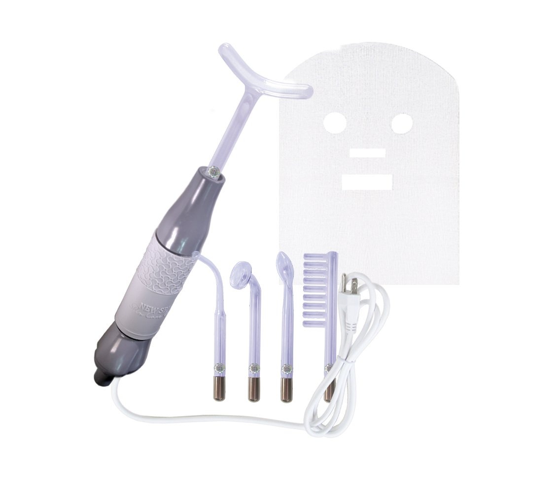 High Frequency D'arsonval Home Use Device NEW SPA ARGON with 5 electrodes. FDA Listed.