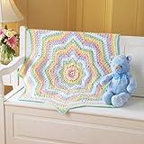 Rainbow Blossom Baby Blanket