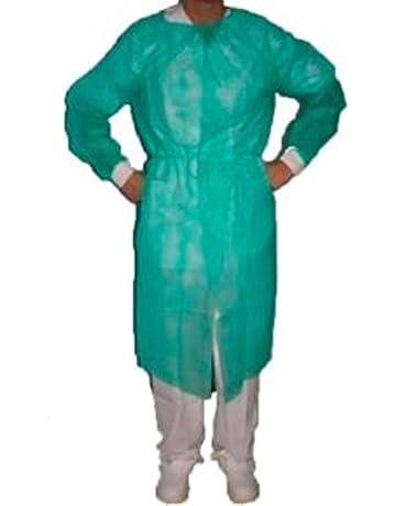 Bata protección puño tricotado esteril verde -5 unidades