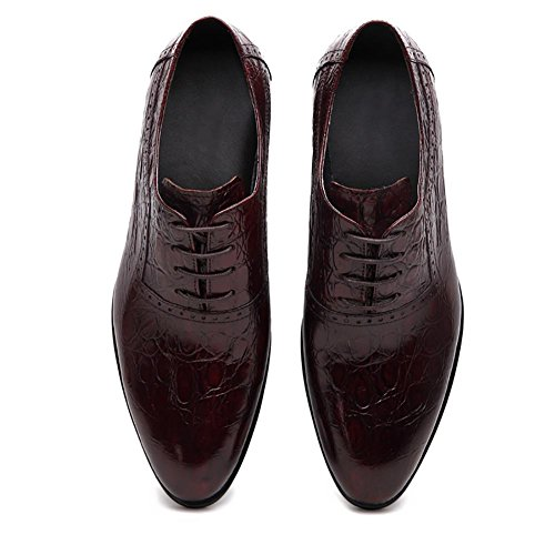 Bullock Herren Leder Krokodil Kleid The Pack Wingtip Oxford Brown