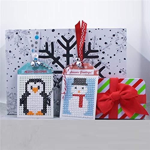 MeikoTan 3Pcs/lot Metal Cutting Dies Cross-Stitch Tag for Scrapbooking Bookmark Card Making New 2019 Craft Die Cut Christmas Stencil -