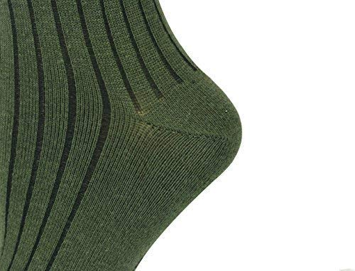 Mysocks Unisexe uni genou haut chaussettes 4