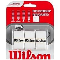 Grip de raqueta de tenis profesional Wilson Sporting Goods Pro (paquete de 3), blanco