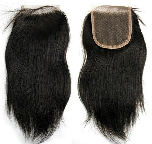 "MsFenda Hair Top Quality 100% Virgin Brazilian Remy Straight Body Wave 8""-22"" Natural Color Cheap Brazilian Hair Closure Sale"
