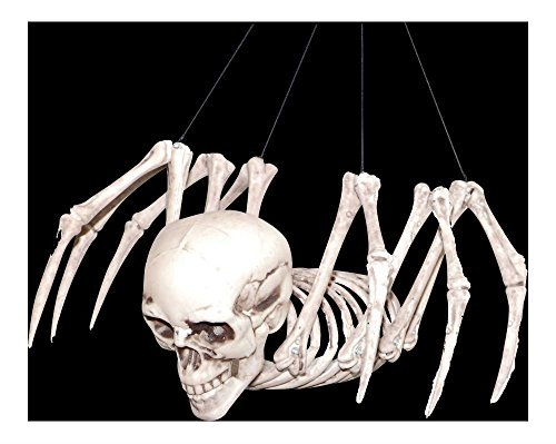 HALLOWEEN Creepy Mutant Hybrid HUMAN SKULL SKELETON SPIDER Horror Monster Prop Decoration