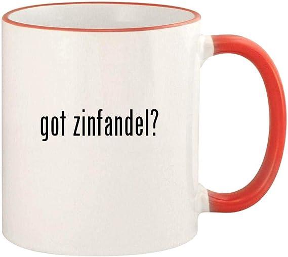 got zinfandel? - 11oz Colored Rim and Handle Coffee Mug