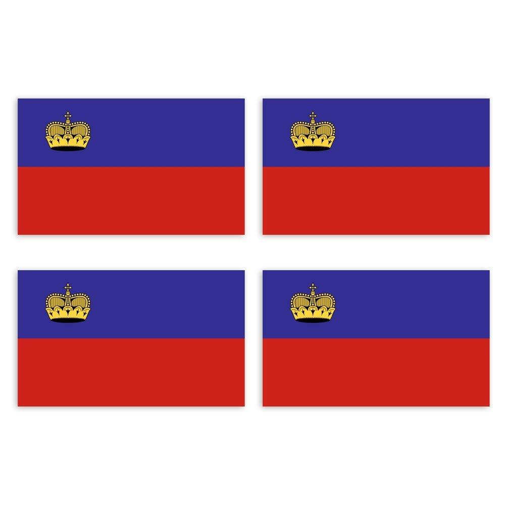 KIWISTAR Aufkleber 4, 5 x 2, 7 cm Liechtenstein - Land Staat Autoaufkleber Flagge Lä nder Wappen Fahne Sticker Kennzeichen