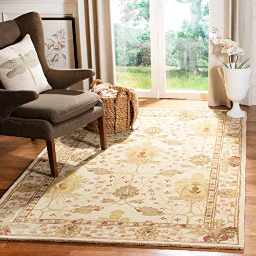 Safavieh Anatolia Collection AN540A Handmade Traditional Oriental Ivory Wool Area Rug 11' x 15'