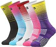 Basketball Socks, Cushioned Athletic Sports Socks, 5 Pack Compression Crew Socks for Boy Girl Men Women