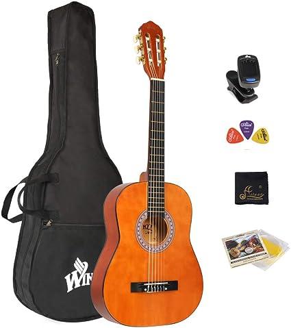 Winzz Guitarra Clásica Cuerda de Nylon 1/2 Tamaño 34 Kit de ...