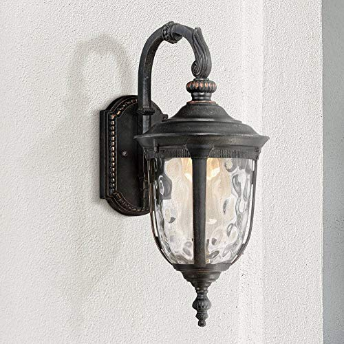 Bellagio Traditional Outdoor Wall Light Fixture LED Carriage Style Valencia Bronze 16 1/2