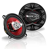 BOSS Audio CH5530 Car Speakers - 225 Watts Of Power Per Pair And 112.5 Watts Each, 5.25 Inch, Full Range, 3 Way, Sold in Pairs, Easy Mounting